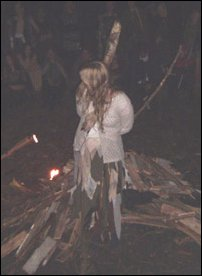 our Sister, being burnt at the stake...